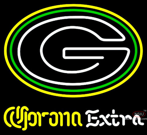 Corona Extra Neon Logo Green Bay Packers NFL Neon Sign