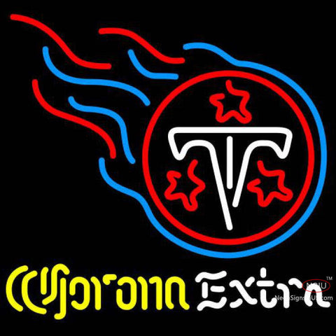 Corona Extra Neon Logo Tennessee Titans NFL Neon Sign