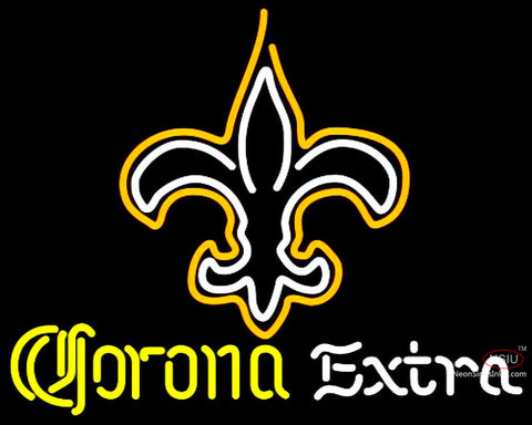 Corona Extra Neon New Orleans Saints NFL Neon Sign