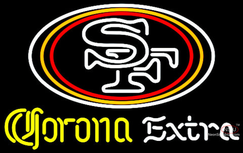 Corona Extra Neon San Francisco ers NFL Neon Sign