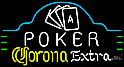 Corona Extra Poker Ace Cards Neon Sign