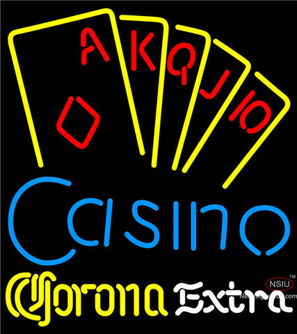 Corona Extra Poker Casino Ace Series Neon Sign