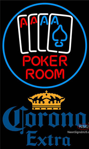 Corona Extra Poker Room Neon Sign