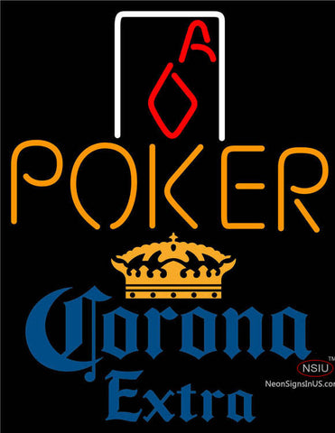 Corona Extra Poker Squver Ace Neon Sign