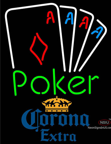 Corona Extra Poker Tournament Neon Sign
