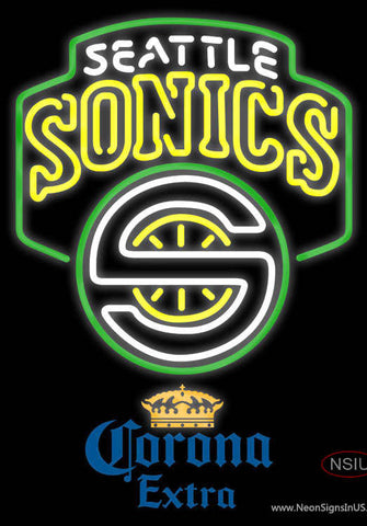Corona Extra Seattle Supersonics NBA Neon Sign