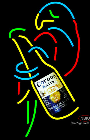 Corona Extra Parrot With Bottle Neon Beer Sign