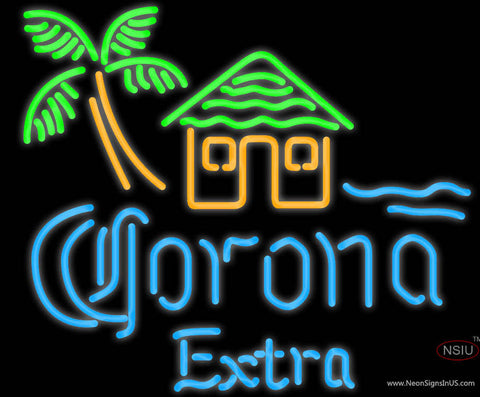 Corona Extra Tiki Hut Neon Beer Sign