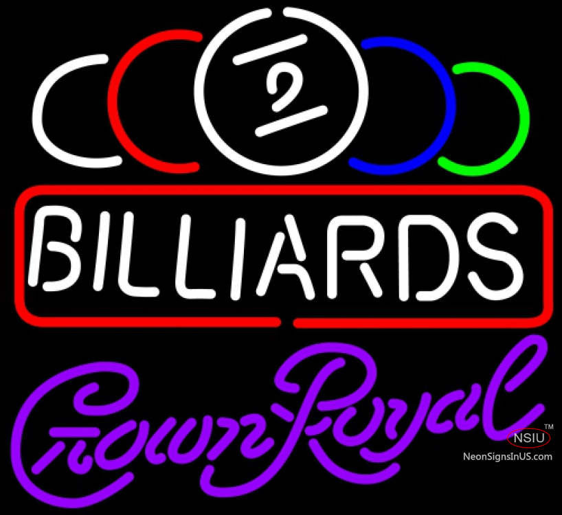 Crown Pools Inc: Crown Royal Ball Billiards Text Pool Neon Sign X
