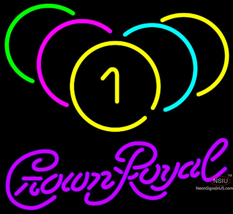 Crown Royal Billiards Rack Pool Neon Sign   x