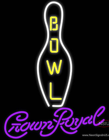 Crown Royal Bowling Neon Sign