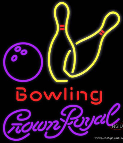 Crown Royal Bowling Neon Yellow Neon Sign  7