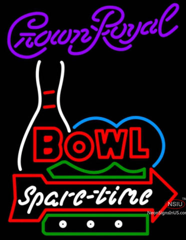 Crown Royal Bowling Spare Time Neon Sign