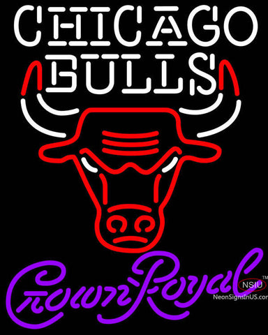 Crown Royal Chicago Bulls NBA Neon Sign
