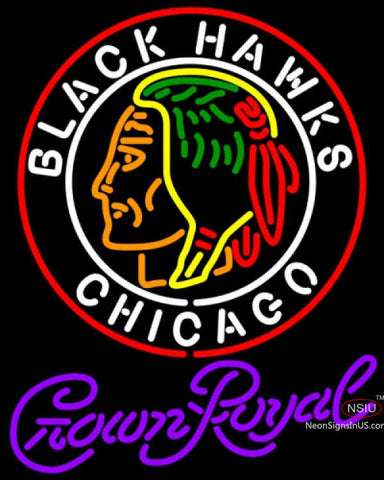 Crown Royal Commemorative  Chicago Blackhawks Hockey Neon sign