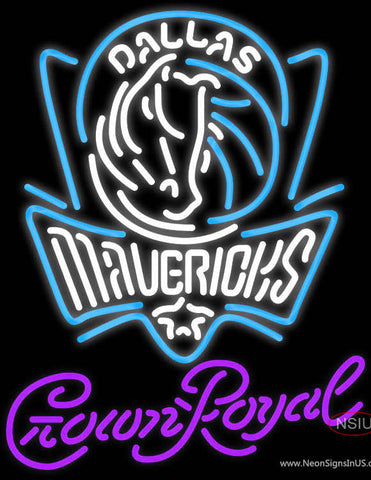 Crown Royal Dallas Mavericks NBA Neon Sign