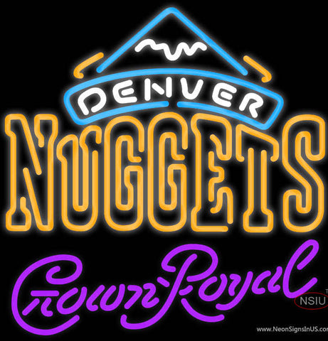 Crown Royal Denver Nuggets NBA Neon Sign