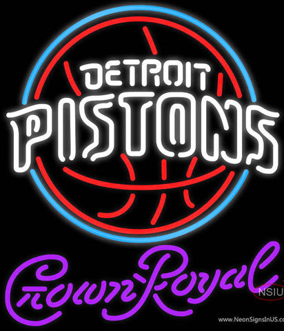 Crown Royal Detroit Pistons NBA Neon Sign