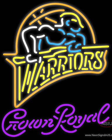 Crown Royal Golden St Warriors NBA Neon Sign