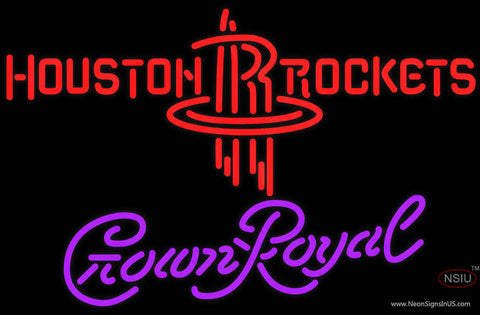 Crown Royal Houston Rockets NBA Neon Sign