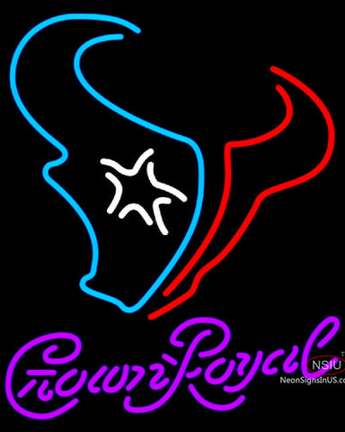 Crown Royal Houston Texans NFL Neon Sign