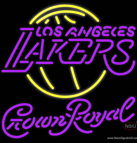 Crown Royal Los Angeles Lakers NBA Neon Sign