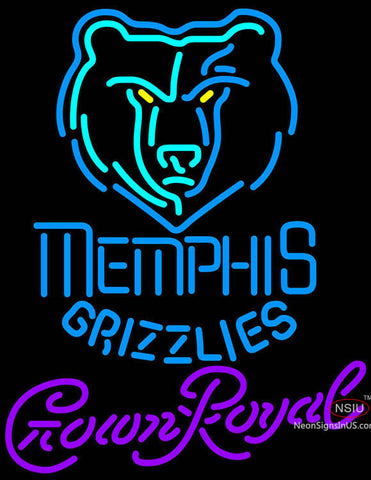 Crown Royal Memphis Grizzlies NBA Neon Sign