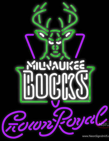 Crown Royal Milwaukee Bucks NBA Neon Sign