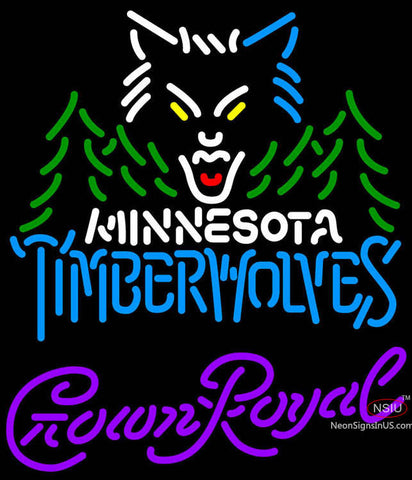 Crown Royal Minnesota Timber Wolves NBA Neon Sign