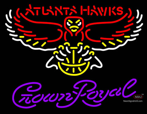 Crown Royal Neon Logo Atlanta Hawks NBA Neon Sign