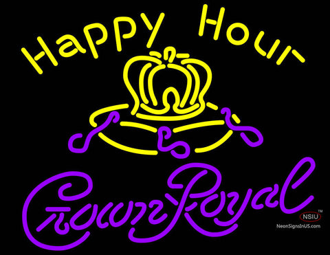 Crown Royal Happy Hour Neon Beer Sign