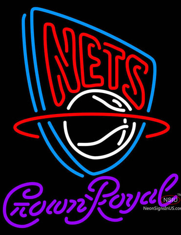 Crown Royal New Jersey Nets NBA Neon Sign