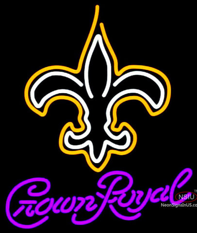 Crown Royal New Orleans Saints NFL Neon Sign