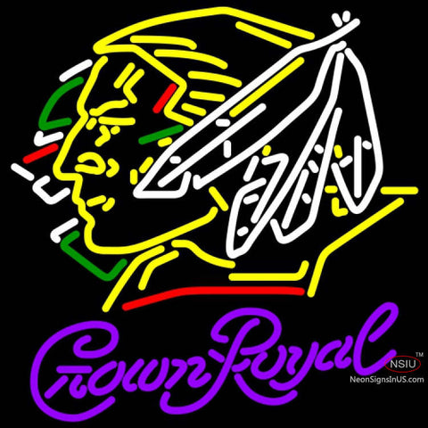 Crown Royal North Dakota Fighting Sioux Hockey Neon Sign  7