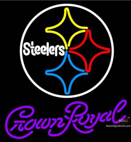 Crown Royal Pittsburgh Steelers NFL Neon Sign
