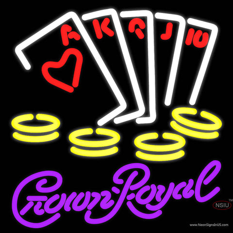 Crown Royal Poker Ace Series Neon Sign 7  x