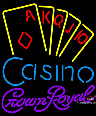 Crown Royal Poker Casino Ace Series Neon Sign