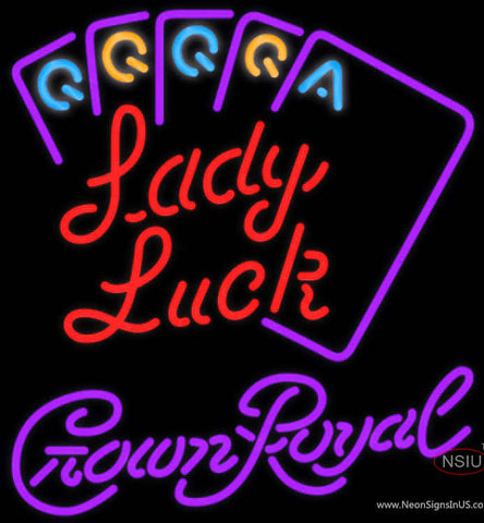 Crown Royal Poker Lady Luck Series Neon Sign Neon Sign 7