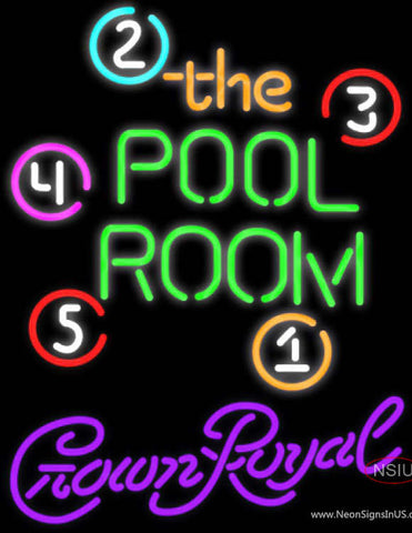 Crown Royal Pool Room Billiards Neon Sign