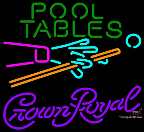 Crown Royal Pool Tables Billiards Neon Sign