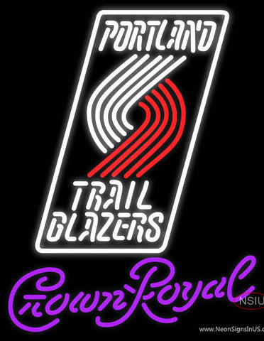 Crown Royal Portland Trail Blazers NBA Neon Sign