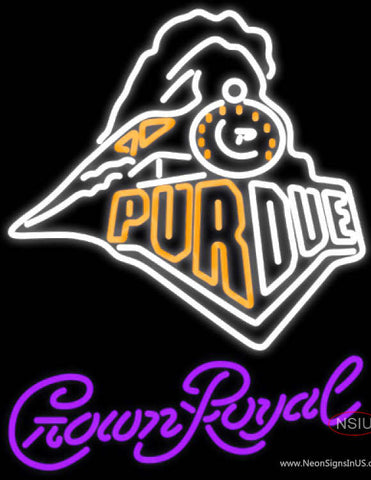 Crown Royal Purdue UNIVERSITY Train Logo Neon Sign