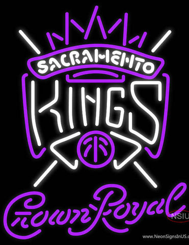 Crown Royal Sacramento Kings NBA Neon Sign