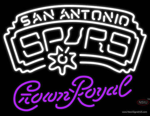 Crown Royal San Antonio Spurs NBA Neon Sign