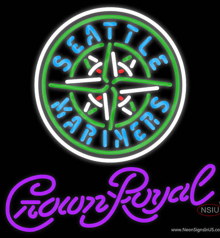 Crown Royal Seattle Mariners MLB Neon Sign  7