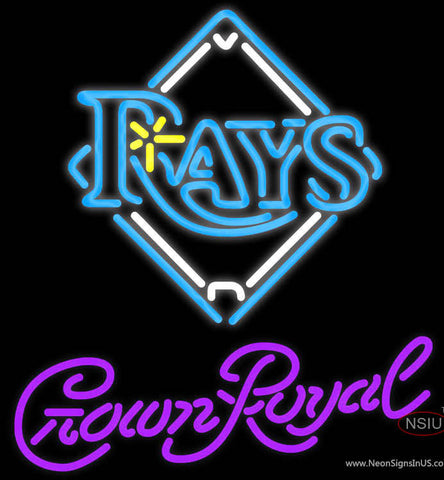 Crown Royal Tampa Bay Rays MLB Neon Sign