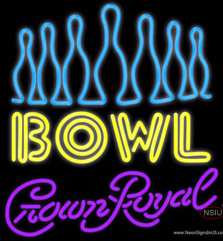 Crown Royal Ten Pin Bowling Neon Sign