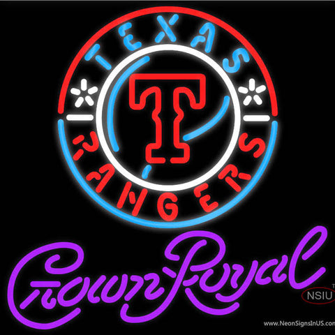 Crown Royal Texas Rangers MLB Neon Sign