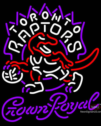 Crown Royal Toronto Raptors NBA Neon Sign