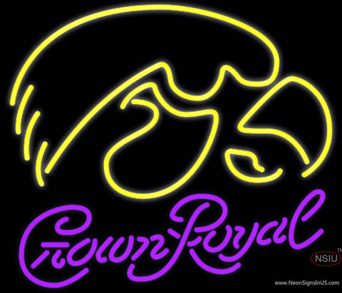 Crown Royal UNIVERSITY Of Iowa Neon Sign